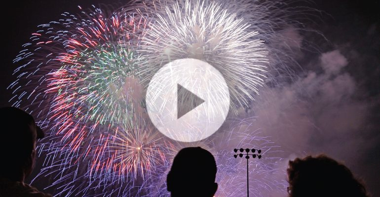 How Do Fireworks Get Their Color And Shape Morgridge