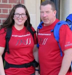 Courtni and her dad Jeff will be walking 100-plus miles beginning April 15 to celebrate her 19th-year cancer free.