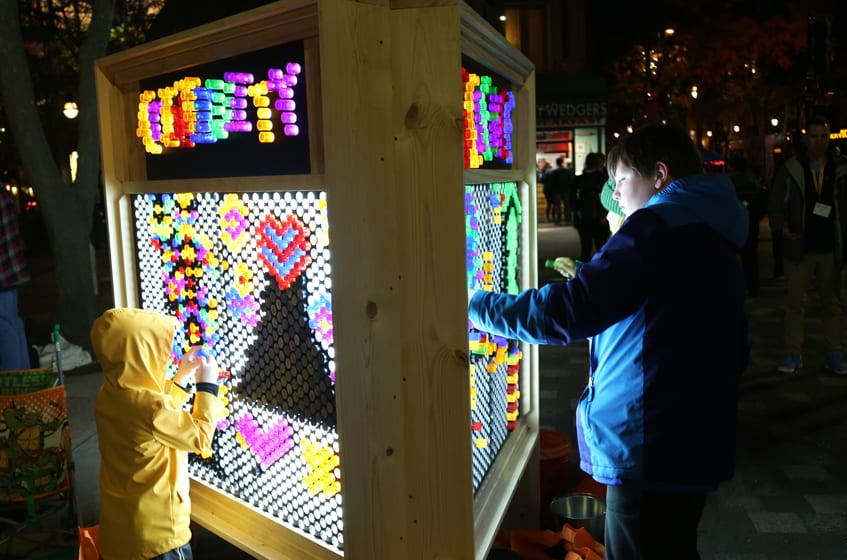 Light Up for Science, Capitol Square in Downtown Madison *WINNER (Voters' Choice)