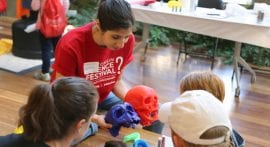 Science arcade night, storytelling headline 2016 Wisconsin Science Festival