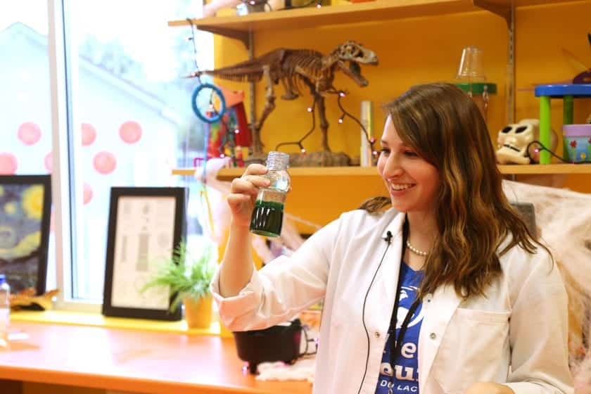 """Marta Knodle, education and program manager at the Children's Museum of Fond du Lac, showcases some Spooky Science activities from the 2016 Wisconsin Science Festival. At the 2017 festival, the Children's Museum will host an """"Extreme STEAM Discovery Lab"""" with hands-on activities focused on Science, Technology, Engineering, Art and Math (STEAM)."""