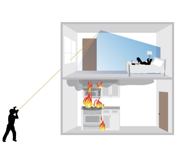 'Seeing around corners' technology could help emergency personnel identify people in danger during fires or natural disasters.