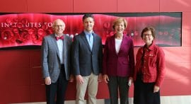 Sen. Tammy Baldwin takes in 'locally sourced science' at Morgridge Institute