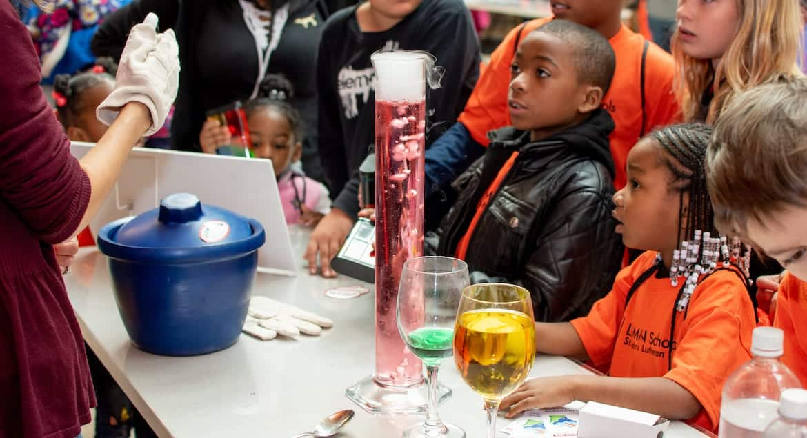 Children at Saturday Science