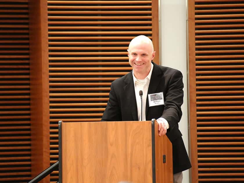 Bill Murphy, co-director of the Stem Cell and Regenerative Medicine Center at UW-Madison, gave concluding remarks.